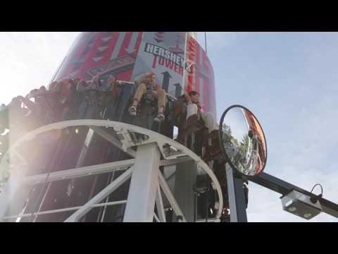 The new Hershey Triple Tower at Hersheypark