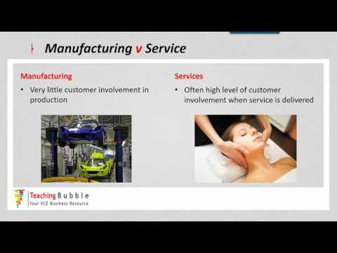 VCE Business Management - Manufacturing v Service