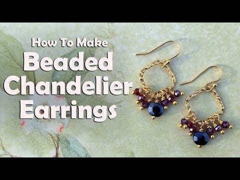 Beaded Chandelier Earrings: Easy Jewelry Tutorial
