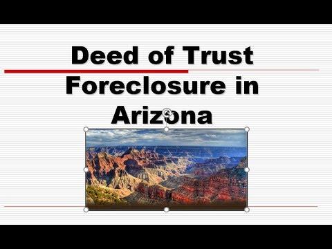Deed of Trust Foreclosure in Arizona Real Estate License Exam Prep