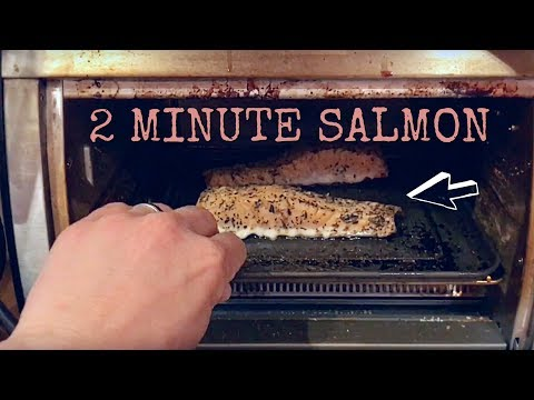 2 Minute Salmon Recipe - HEALTHY MEAL HACK!!!