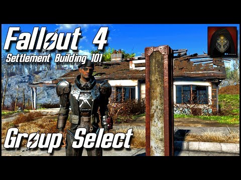 Fallout 4 | HOW TO USE GROUP SELECT EFFECTIVELY - Settlement Building 101