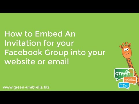 Facebook Group - How to Embed an Invitation into Your Website or Email
