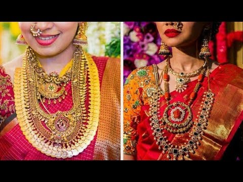 Gold Jewelry inspiration from real brides || Beautiful bridal jewelry patterns.