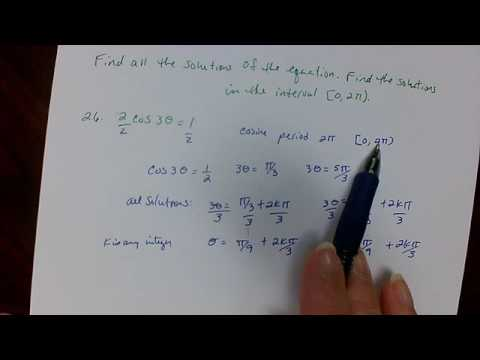 Find all solutions of the equation precal   exam 3 review