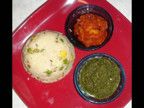 How to make Upma (Upittu) Video Recipe- Indian Vegetarian Recipes by Bhavna