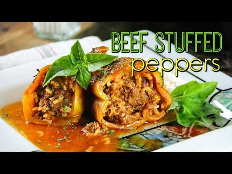 THE BEST BEEF STUFFED PEPPERS RECIPE