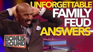 UNFORGETTABLE FAMILY FEUD Answers & Steve Harvey Funny Moments On Family Feud USA!