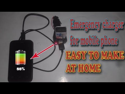 How To Make Emergency Mobile Phone charger At Home