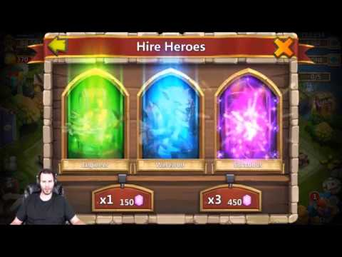 Rolling 22000 Gems For Heroes Android Castle Clash