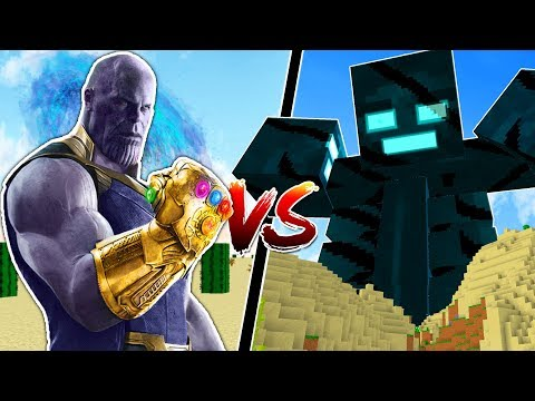 MINECRAFT INFINITY GAUNTLET vs STRONGEST MINECRAFT TITANS!!