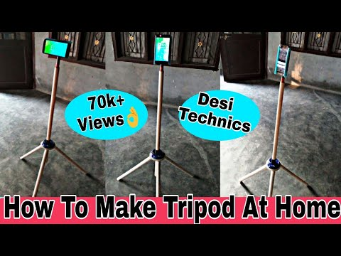 How to make mobile tripod stand with waste material (hindi 2018)