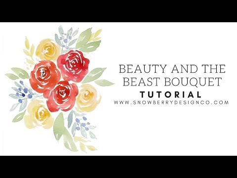 Beauty and the Beast Bouquet   TUTORIAL