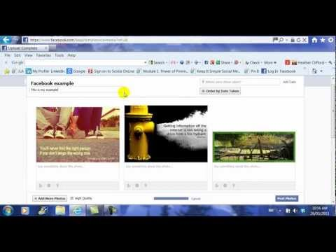 How to Upload a Photo or Album to Facebook