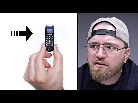 Using The World's Smallest Phone...