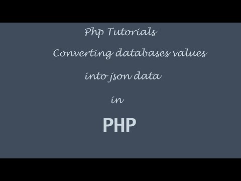 Converting Database Values into Json in PHP and Mysql