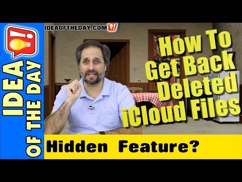 How to Restore Deleted Files From iCloud. Idea of the Day #286