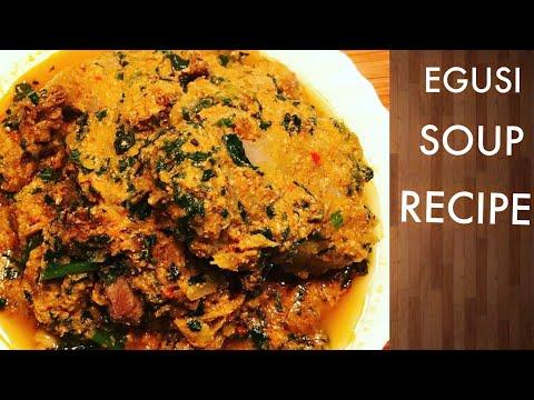 HOW TO MAKE EGUSI SOUP NIGERIA FOOD  EGUSI STEW