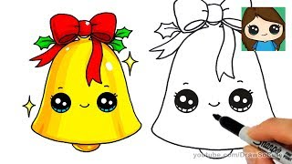 How to Draw a Christmas Bell Easy and Cute
