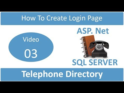 how to make login page in telephone directory