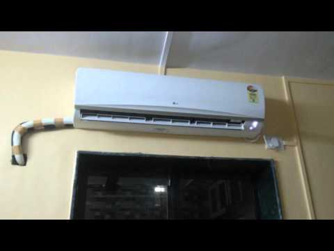 How to hide copper wire on wall mounted AC