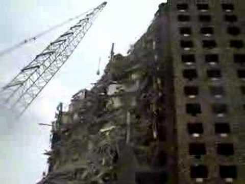 Demolition of 18 story building, Newark NJ