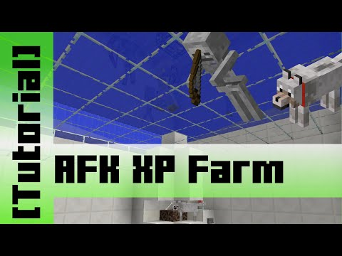 Dog Skeleton AFK XP Farm [Tutorial] Minecraft 1.10