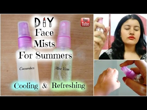 DIY Cooling & Refreshing Face Mist for Summers ||  Aloe Vera & Cucumber Face Mists || Riya Beauty