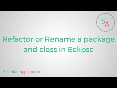 #1 Refactor or rename a package and class in eclipse