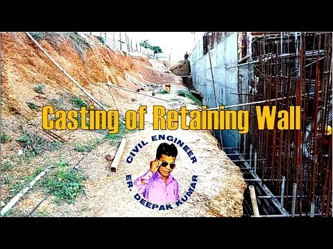 Concrete Retaining Wall || Rebar || Formwork || Concretting || How to Build on site ||