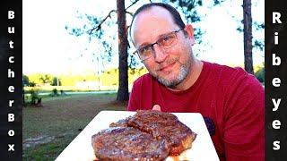 ButcherBox Ribeye Steaks Review Cooked on the Weber  Kettle #Butcherbox
