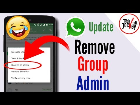 How to Remove WhatsApp Group Admin | Dismiss as Admin Update - WhatsApp New Update 2018 in Hindi
