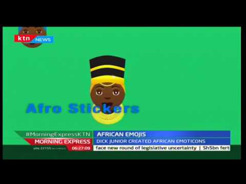 Young man from Kenya manages to create unique African emoticons