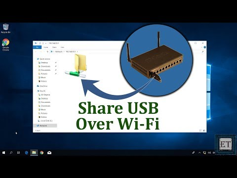 How To Share A USB or Hard Drive With Everyone on Your Wi-Fi Network - Access Flash Drive Via Wi-Fi