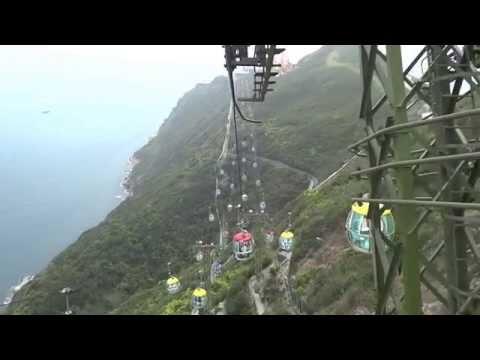 Cable Car Ocean Park Hong Kong (Whole Journey)