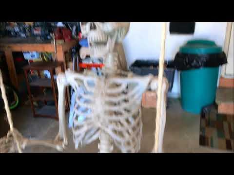Swinging Skeleton Tutorial Halloween animated prop