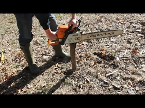 Can you catch earth worms with a chainsaw? Chainsaw worm grunting