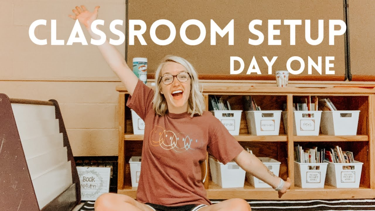CLASSROOM SETUP DAY ONE | Getting Into My First Classroom!!!