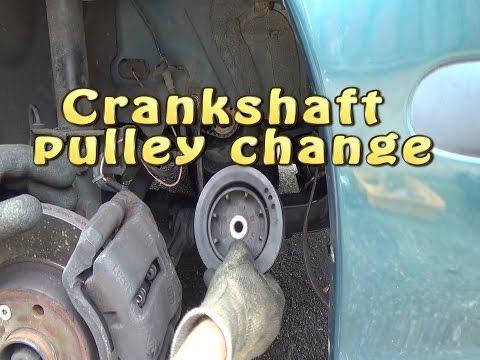 Crankshaft pulley change (damper pulley)