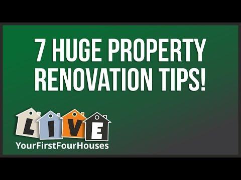 LIVE  ---  7 Property Renovation Mega Tips  ---  LIVE!
