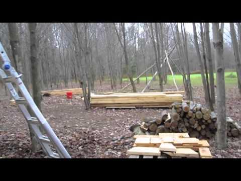 Pole Barn - installing board & baton siding - 10-29-2010