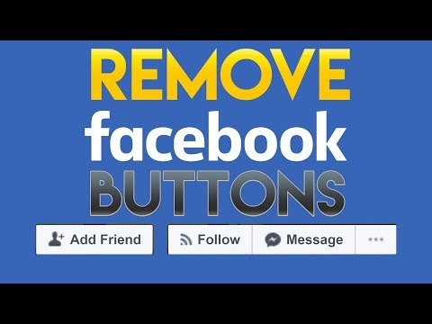 How to Hide Message and Add Friend button on Facebook 2018 in 3 Minutes