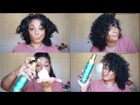 ♡ Natural Hair   ONE STEP Curl Refresh with a MOUSSE?? – OGX Coconut Decadent Creamy Mousse ♡