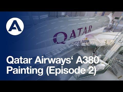 Qatar Airways A380: Painting (Episode 2)