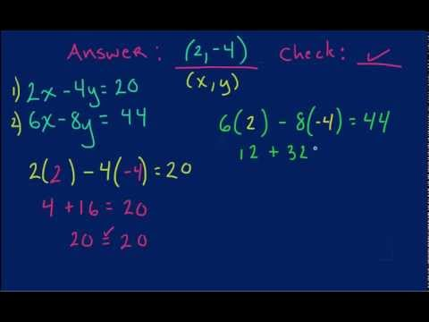 How to Check Solutions for Systems of Equations