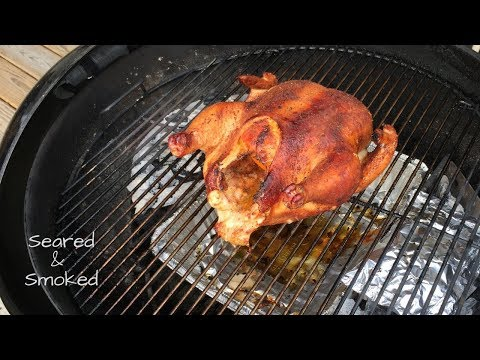 Smoking a Whole Chicken on a Weber Kettle