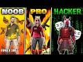 Noob Vs Pro Vs Hacker  Free Fire