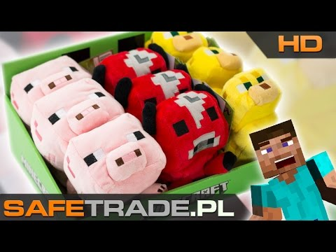 Minecraft Official Plush Animal Toys Baby Ocelot Mooshroom and Pig | www.safetrade.pl