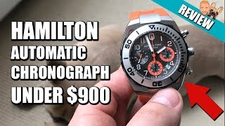 Incredible Value Hamilton Khaki Navy Sub Auto Chrono Automatic Chronograph Review Getplaypk