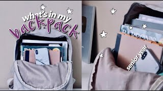 BACK TO SCHOOL What's In My Backpack 2019 ☆ Senior Year